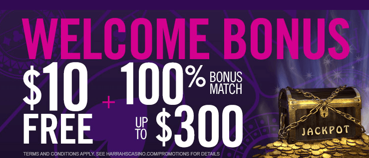 Harrah's No Deposit and Bonus Match